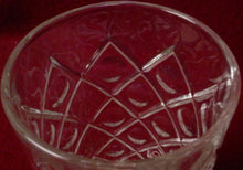 HAZEL ATLAS crystal DIAMOND with THUMBPRINT clear JUICE TUMBLER 5 oz.