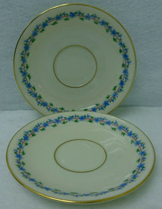 LENOX china CAPRICE pattern O375 Saucer - Set of Two (2)