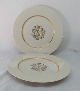FRANCISCAN china FREMONT pattern DINNER PLATE Set of 2
