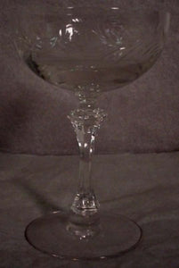 TIFFIN crystal CHANTILLY 17453 CHAMPAGNE SHERBET Goblet Set of Four (4) - 5-3/8""
