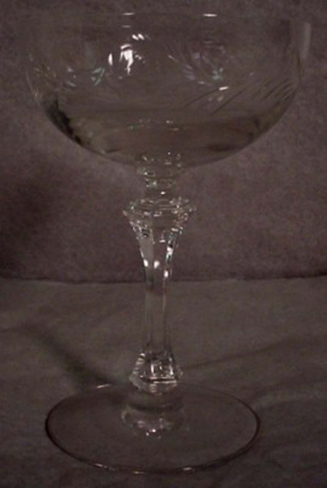 TIFFIN crystal CHANTILLY 17453 CHAMPAGNE SHERBET Goblet Set of Four (4) - 5-3/8