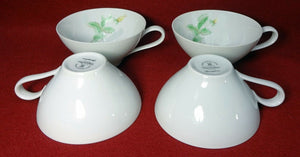 ROSENTHAL china SPRINGTIME yellow rose Set of Four (4) CUPS - NO Saucers