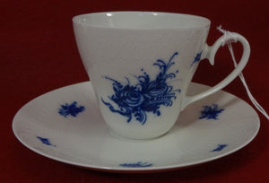 ROSENTHAL china RHAPSODY 31250 pattern TALL Cup & Saucer Set - 2-7/8""