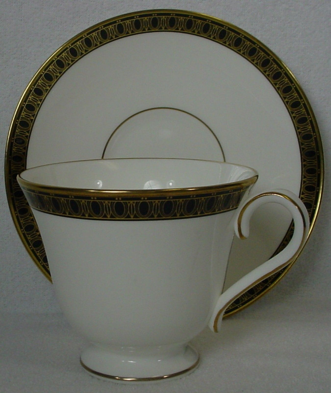 WATERFORD china ASHWORTH pattern CUP & SAUCER Set cup 3