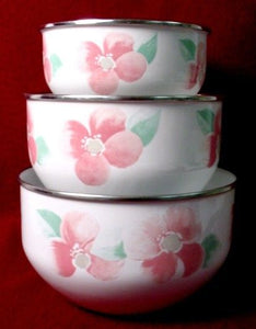 PFALTZGRAFF china GARLAND BLUSH pattern MIXING BOWLS