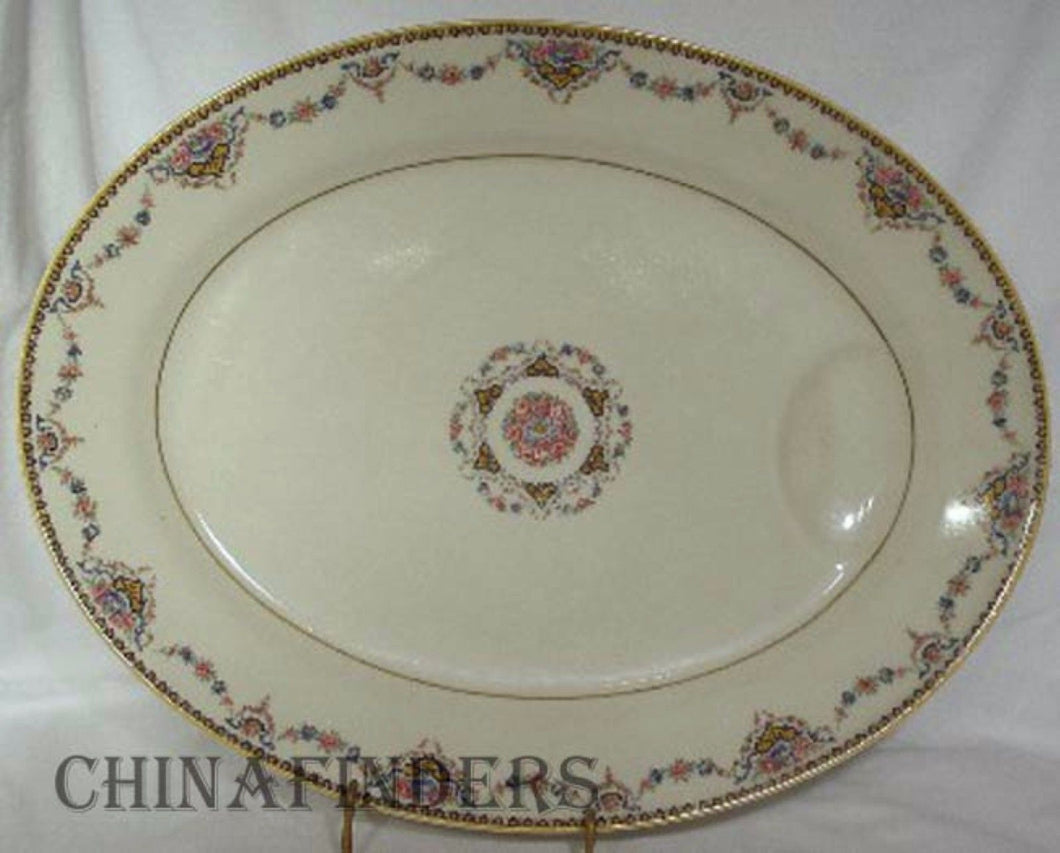 HAVILAND china Limoges DORA pattern Large Oval Serving Platter - 15-5/8