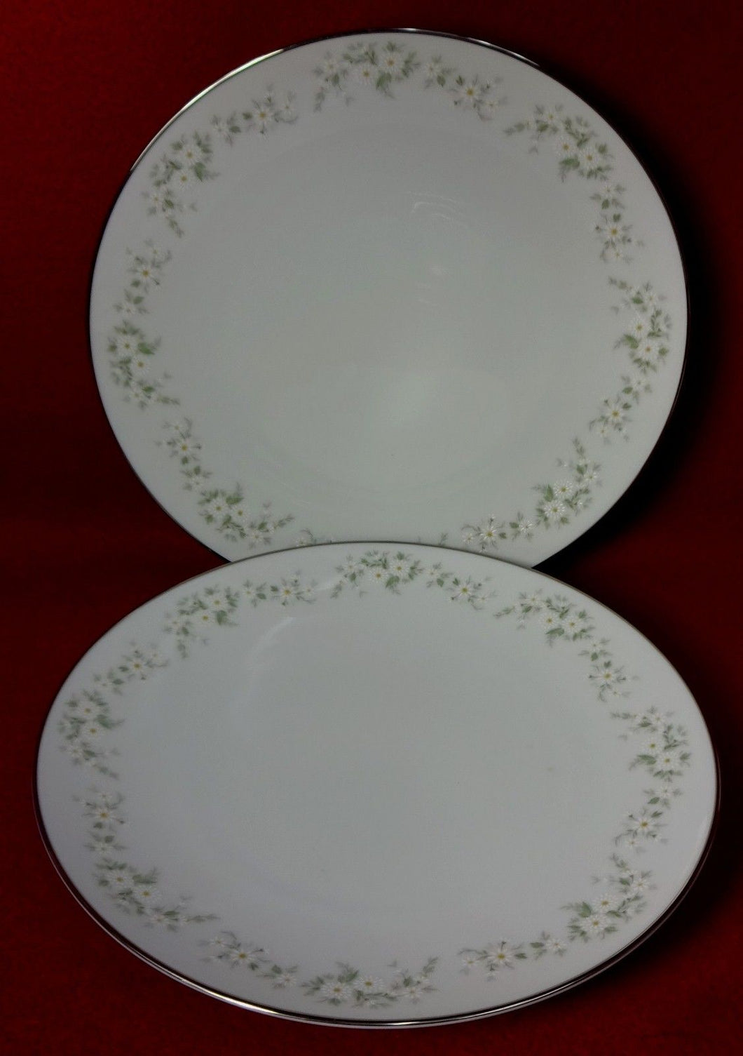 NORITAKE china ANNABELLE 6856 pattern Salad Plate - Set of Two (2) - 8-1/4