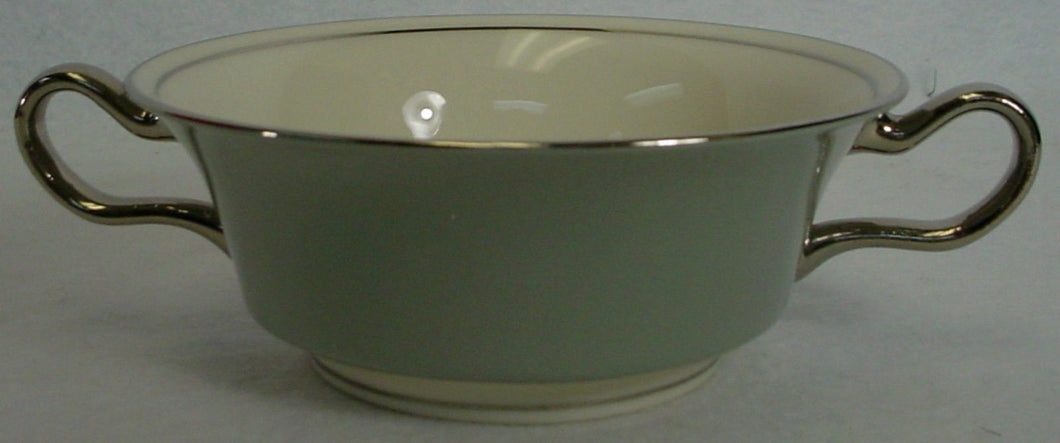 CASTLETON china LYRIC pattern CREAM SOUP BOWL with HANDLES