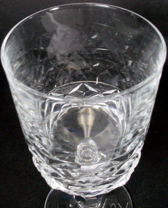 CRISTAL D'ARQUES Durand crystal DIAMOND pattern WATER GOBLET 6-1/4""