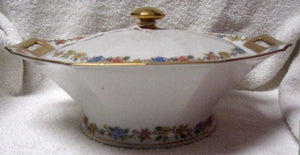 HAVILAND china ROSEMARY pattern OCTAGONAL Covered VEGETABLE Serving BOWL & LID
