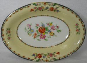 KPM china KINGSLY pattern Oval Vegetable Serving Bowl - 10-3/4""