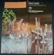 VILLEROY & BOCH crystal MARS 2000 pattern WINE GOBLET or GLASS 6""