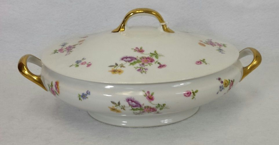 BERNARDAUD china BER3 PRIMAVERA pttrn Oval COVERED VEGETABLE