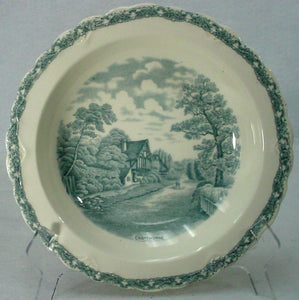 OLD HALL china COUNTRY SIDE GRAY pattern SOUP or SALAD BOWL Cropthorne