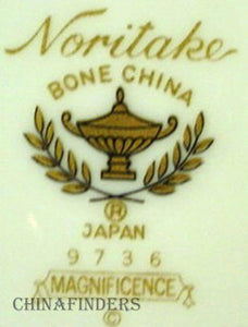 NORITAKE china MAGNIFICENCE 9736 pattern Cup & Saucer Set