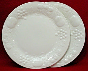 "GIBSON DESIGNS china FRUIT pattern DINNER PLATE 10"" Set of TWO (2)"