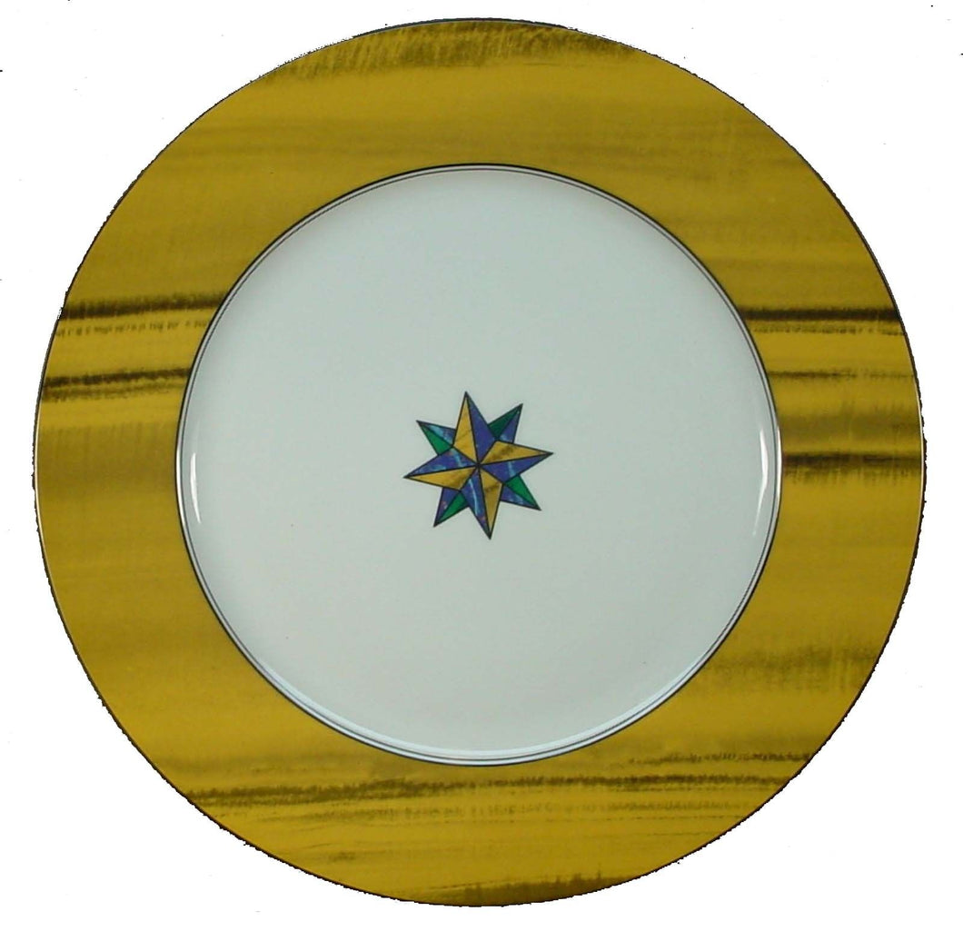 FITZ & FLOYD china TIGER'S EYE pattern Charger/Service Plate @ 12 1/4