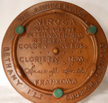 FRANKOMA pottery TRIVET #33 Niroga 14th Nazarene International Retreat 1986