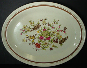 ROYAL DOULTON china GAIETY LS1014 pattern OVAL MEAT Serving PLATTER 13-3/8""