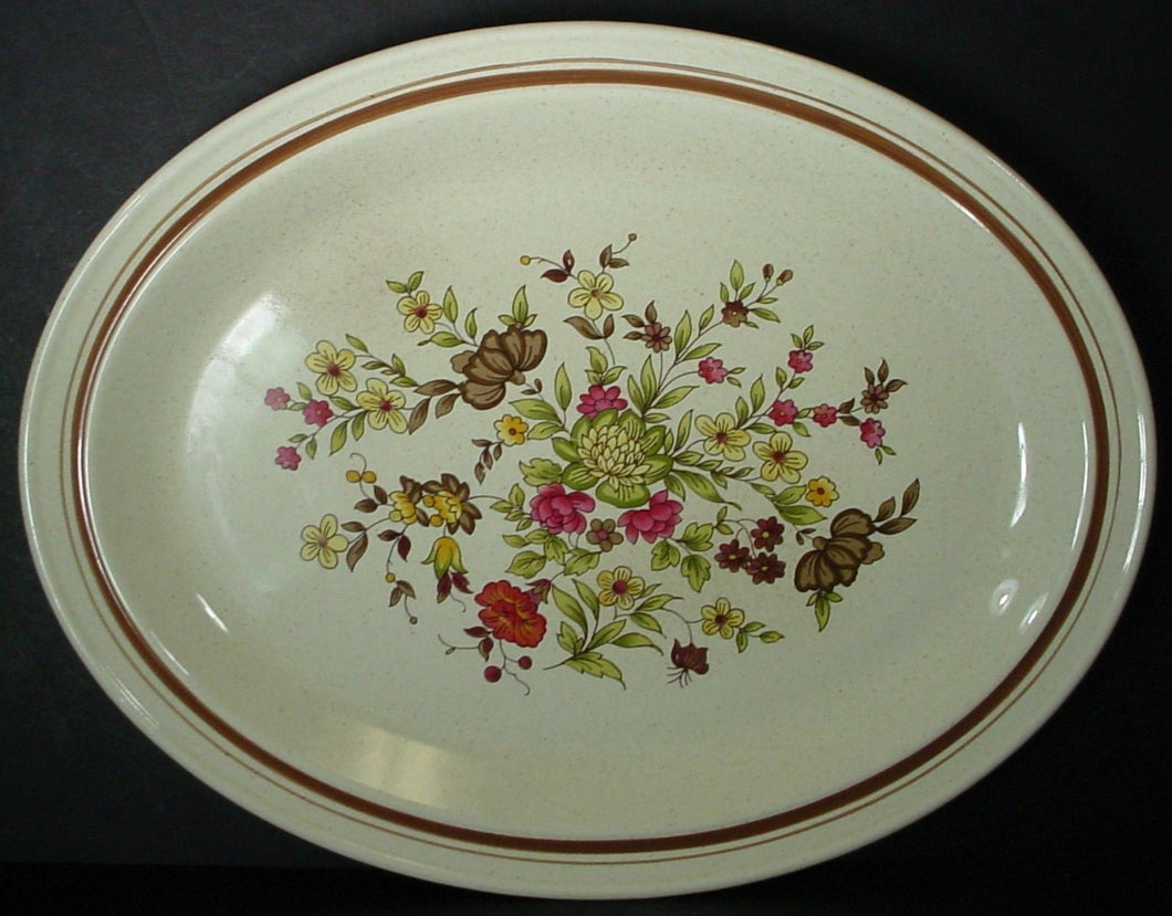 ROYAL DOULTON china GAIETY LS1014 pattern OVAL MEAT Serving PLATTER 13-3/8