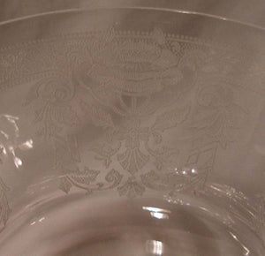 TIFFIN crystal MAYFLOWER pattern 17301 Water Goblet