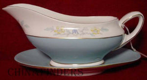 ROYAL DOULTON china BARCLAY H4908 pattern Gravy Boat/Underplate