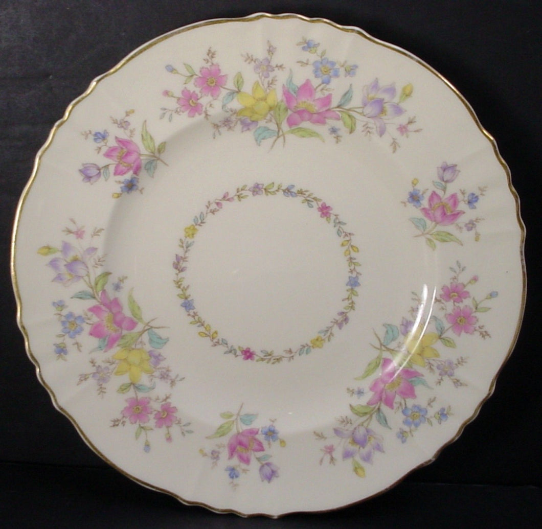 SYRACUSE china BRIARCLIFF pattern Set of 9 DINNER PLATES - 10