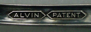 ALVIN silver LUXOR 1924 silverplate OLIVE SPOON pierced bowl 5-3/4""