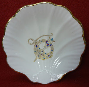 ROYAL TARA china TARA BROOCH pattern Scalloped Dish - 4-3/4""