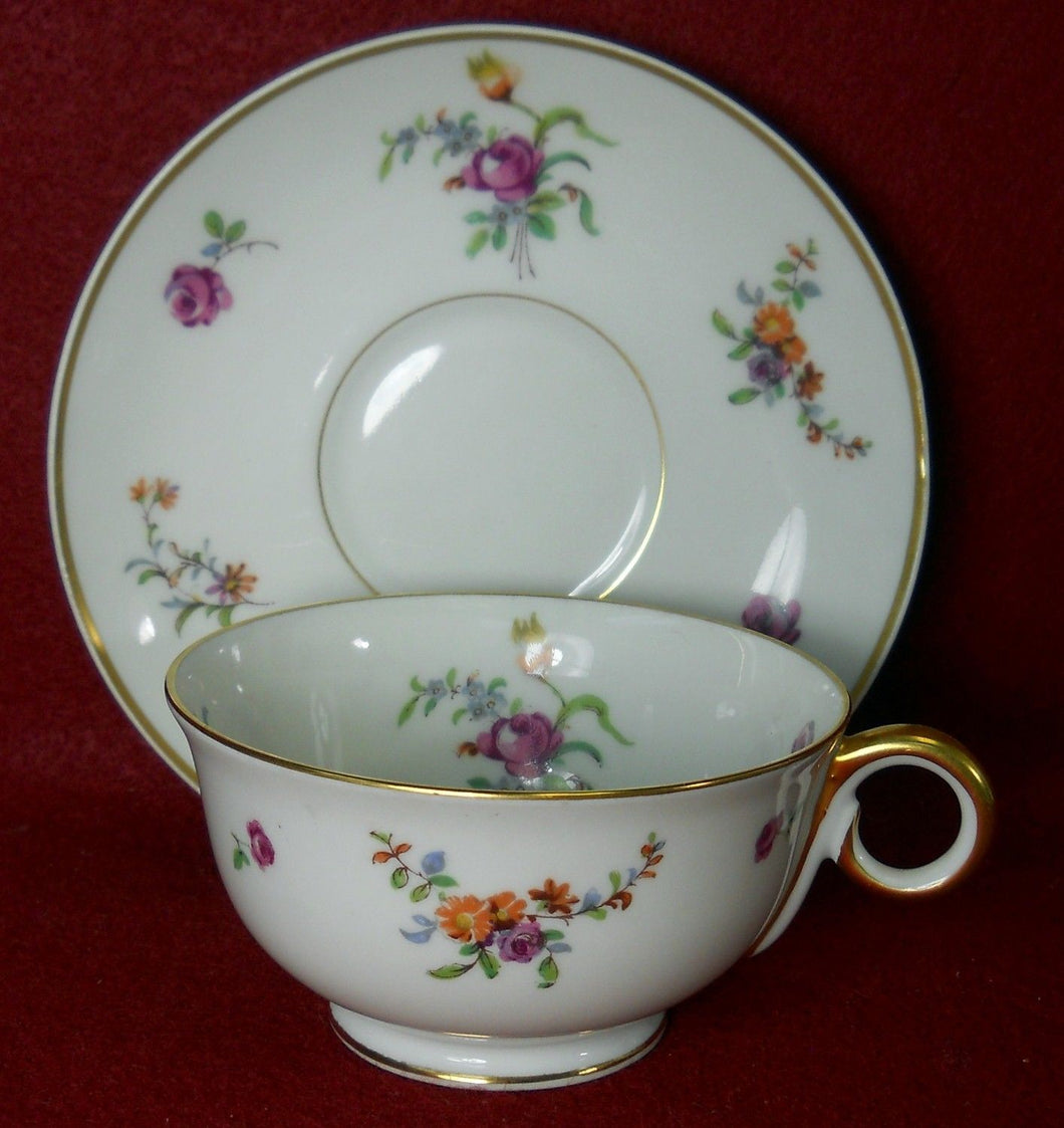 HAVILAND Limoges china MIGNONETTE Cup & Saucer Set - 2