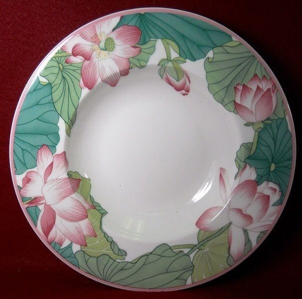 VILLEROY & BOCH china JADE pattern Large Rim Soup or Salad Bowl - 9-1/2