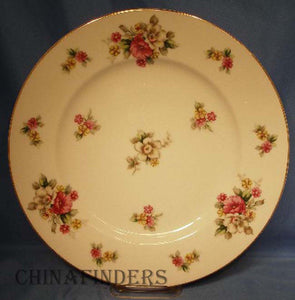 GRACE china APPLE BLOSSOM pattern Dinner Plate @ 10-3/4""
