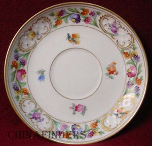 SCHUMANN Bavaria china DRESDENER ART pattern Saucer ONLY - Multi-motif