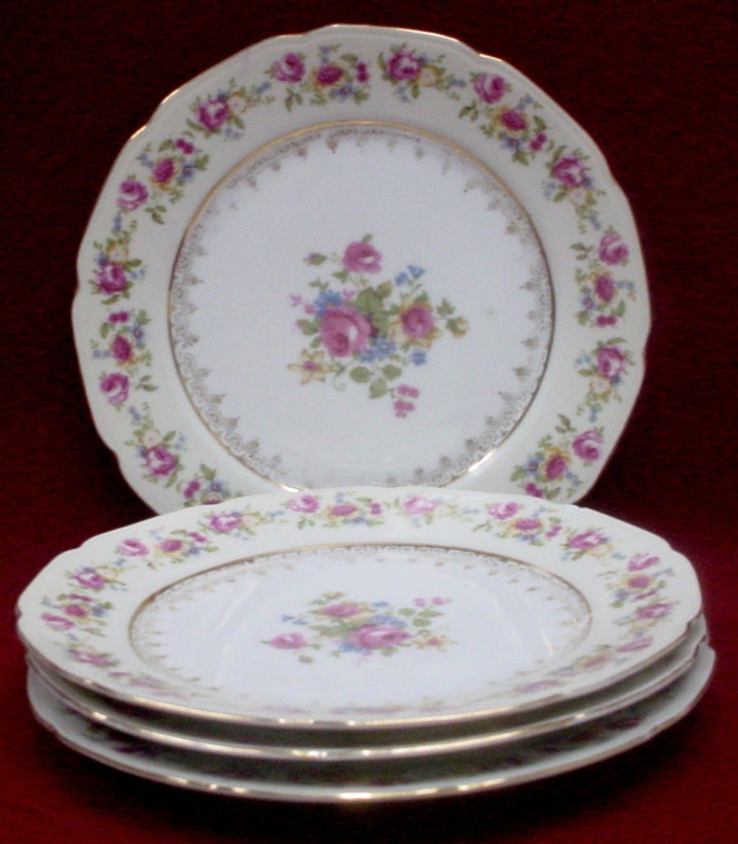 GOLD CASTLE china HOSTESS pattern LUNCHEON PLATE 8-7/8