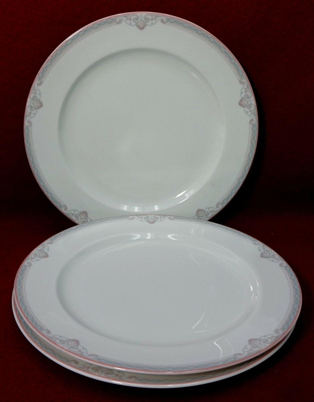 LENOX china HATTERAS 7822 pattern BREAD PLATE - Set of Three (3) - 7