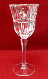 BLOCK crystal TULIP GARDEN pattern Wine Glass/Goblet 7-3/4""