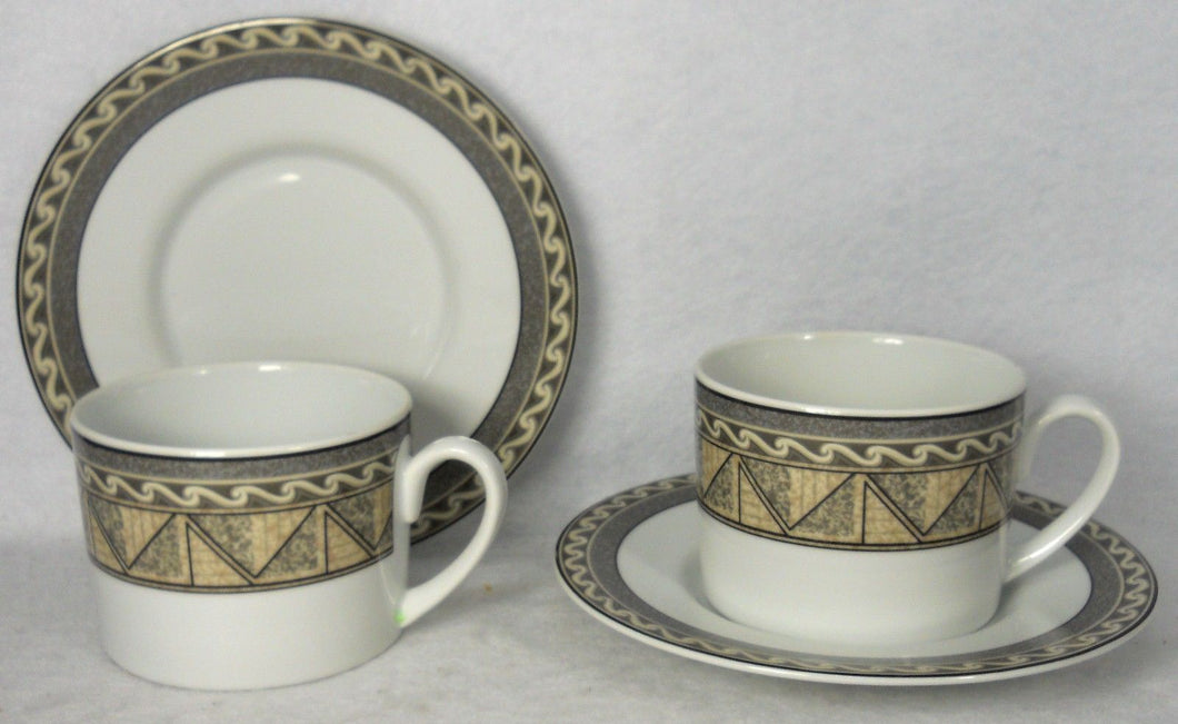 STUDIO NOVA china COURTYARD Y0281 pattern Cup & Saucer - Set of Two (2) - 2-1/2