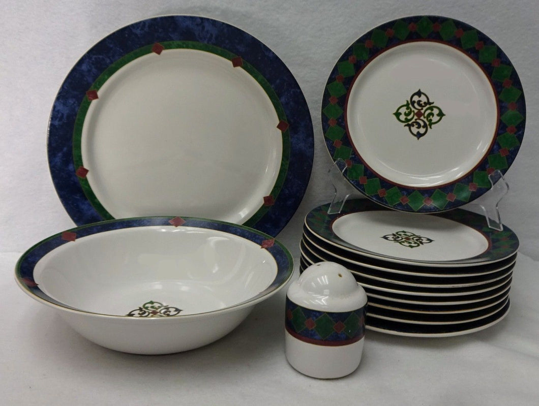 PFALTZGRAFF china AMALFI CLASSIC 12-piece SET LOT dinner salad round bowl shaker