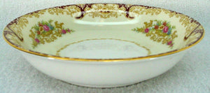 NORITAKE china N376 Rust/Red Scrolls & Floral Vases FRUIT dessert BERRY BOWL