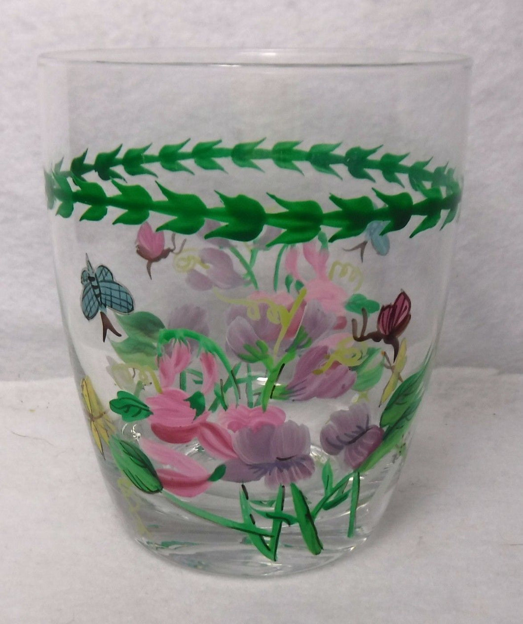 PORTMEIRION china BOTANIC GARDEN 14-oz Double Old Fashioned SWEET PEA - 4-1/4