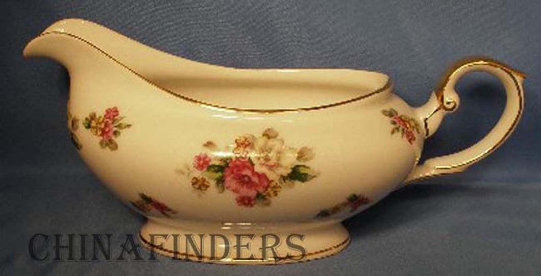 GRACE china APPLE BLOSSOM pattern Gravy Boat