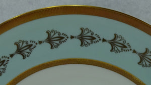 "ROYAL TETTAU china EMPRESS china Dinner Plate - 9-7/8"" Gold Fleur De Lis"