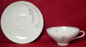 SALADMASTER china FANTASY pattern CUP & SAUCER Set Cup 2""
