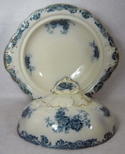 ALFRED MEAKIN china GLENMERE Blue-Green Round Ftd Covered Vegetable Serving Bowl