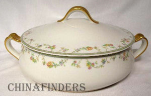 HAVILAND china GENEVIEVE pattern Round Covered Vegetable Serving Bowl & Lid
