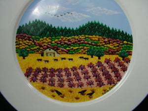 "BLOCK china NAPA VALLEY pattern DINNER PLATE 10-3/4"" AUTUMN Howell Mountain Pros"