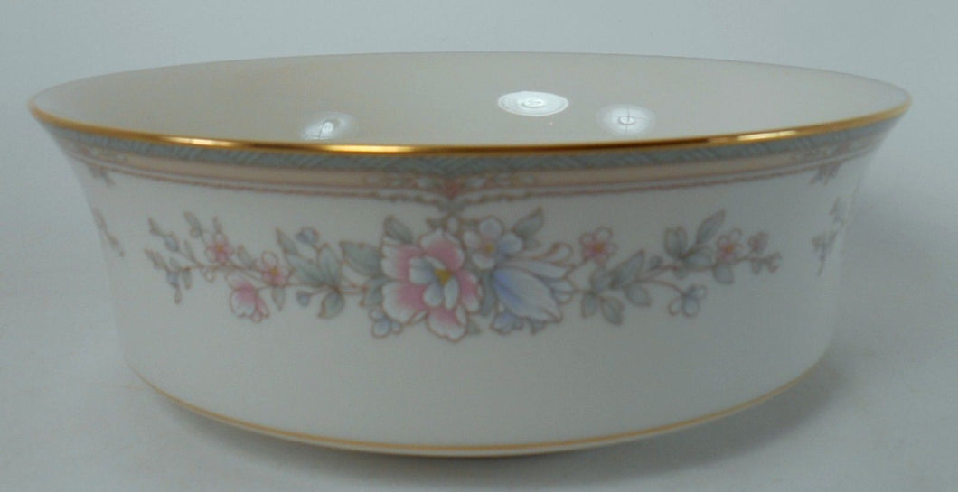 NORITAKE china BENTLEY 7723 pattern Round Salad Serving Bowl @ 8-1/4