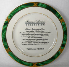 FITZ & FLOYD china GREENWICH pattern Advertising Salad or Dessert Plate 8-1/4""