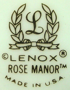LENOX china ROSE MANOR metropolitan DINNER PLATE 10-3/4""