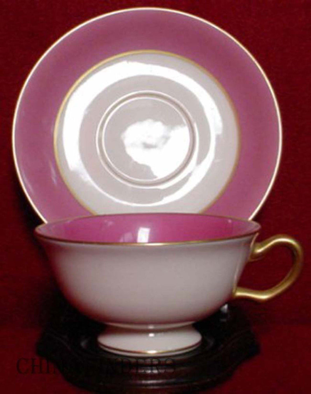 LENOX China WASHINGTON PINK S15H pattern Cup & Saucer Set - 2-1/8